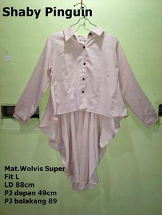Toko Hijab Shaby Pinguin top Creamy Mat.Wolvis Super Fit L