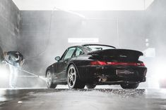 A Porsche 993 Turbo in for a routine car wash. We offer a high quality car wash and detailing service on site at Crossley & Webb Porsche 993, Collector Cars, Car Wash, Cape Town, Routine, First Car