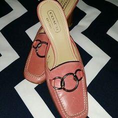 Coach Shoes - COACH Coral Slipon Heels
