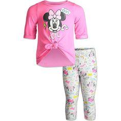 Minnie Mouse Short Sleeve T-Shirt & Leggings Set - 5 / Pink
