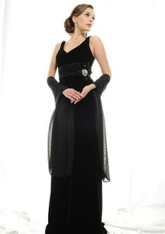shawl for princess neckline Mother of the Bride | ... Floor-Length Chiffon Flowers Waistband Mother Of The Bride Dresses