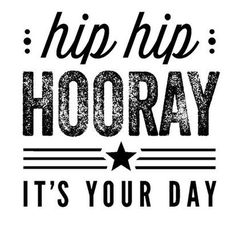 Hip Hip Hooray - It's Your Day stamp from the Hip Hip Hooray Card Kit. #scrapbooking