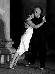 Tango........real tango as done in Argentina, has the couple entwined and leaning with great pressure into one another.
