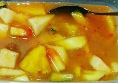 Rujak Aceh Sweets Recipes, Snack Recipes, Cooking Recipes, Healthy Recipes, Snacks, Food N, Food And Drink, Cocktail Desserts, Asian Recipes