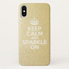 Keep Calm & Sparkle On Case-Mate iPhone Case / iPhone XS case / glitter iOhone case / afflink Plastic Case, Keep Calm, Apple Iphone, Iphone Cases, Sparkle, Glitter, Stay Calm, Relax, Iphone Case