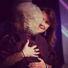 Amanda Tapping & Nichelle Nichols hugging at FedCon 2014  2 of the most inspiring women I have ever had the honour of meeting.   (C) Jessica Rens Photography 2014