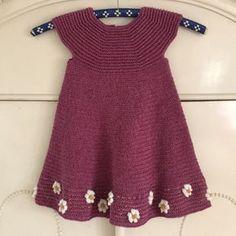 Ravelry: AnemoneKjole pattern by Birgitte Haahr Hejlesen Crochet Baby Dress Pattern, Baby Knitting Patterns, Knit Crochet, Crochet Clothes, Diy Clothes, Dress Outfits, Kids Outfits, Girls Dresses, Summer Dresses