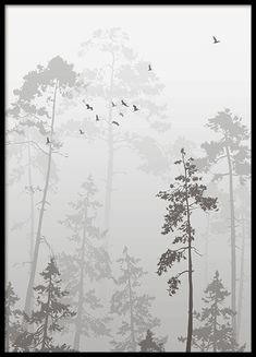 Fototavla med skog ...