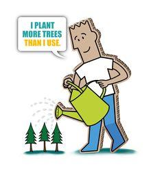 I plant more trees than I use. Trees, Plants, Flora, Plant, Wood Illustrations, Wood, Planting