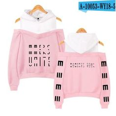 Marcus Martinus Off-shoulder Hoodies Sweatshirt Solar system 2018 New Fashion Women Exclusive Kpop Sexy Wear Custom - pink - - Hoodies & Sweatshirts New Fashion, Womens Fashion, Hoodie Outfit, Hoodies, Sweatshirts, Bridal, Cool Outfits, Pullover, Sexy