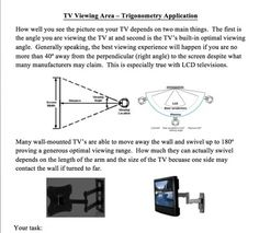 Trigonometry TV Viewing Application Activity from Teach With Fergy on TeachersNotebook.com -  (4 pages)  - Thank you for your interest in my Trigonometry TV Viewing Application Activity.  It's a great activity that really challenges even the most advanced students and provides real applicability to your tr