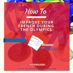 Take advantage of the many hours you are going to spend in front of your TV or computer to improve your language skills in French during the Olympics. Teach Yourself French, How To Speak French, Improve Yourself, Learning Cards, Ways Of Learning, Learning Resources, Learn French Online, French Conversation, French Friend