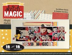 NEW Sketch Magic idea book from Allison Davis and Debbie Sanders, using products from our Say Cheese collection