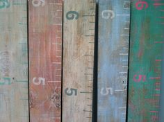 Repurposed Wood Growth Chart Large Ruler by TheVintageBeach, $49.00