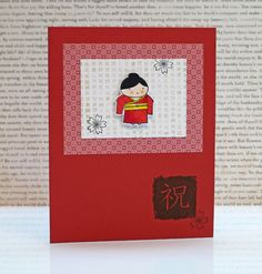 cute asian card made with poppystamps