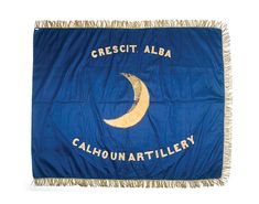 Banner of 1st Company (A), Battalion of Artillery, part of the garrison of Fort Moultrie under the command of Captain William R. Calhoun.