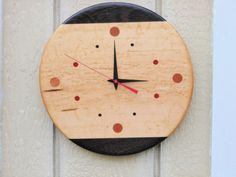 Handmade Wood ClockFREE SHIPPING by TheGrainExpression on Etsy, $90.00