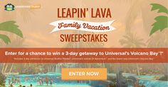 Enter for a chance to win a 3-day vacation to Universal Orlando Resort™, courtesy of Undercover Tourist.