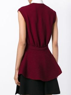 cable knit peplum top