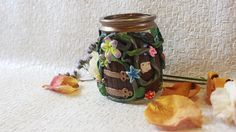 Fairy tale candle holder fairy door home gift candle gift Fairytale Home Decor, Fairy Bedroom, Power Colors, Tea Light Holder, Recycled Glass, Glass Jars, Home Gifts, Tea Lights, Fairy Tales
