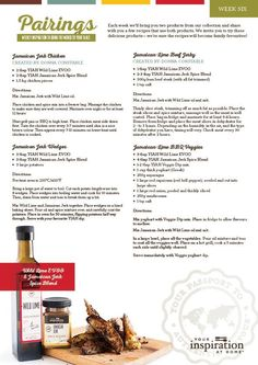 Yiah wild lime OO and Jamaican jerk spice blend recipes http://jessicawest.yourinspirationathome.com.au