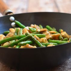 The best way to moist and super tender meat in stir-fries is velveting. Find out how and enjoy this green bean chicken without take out!