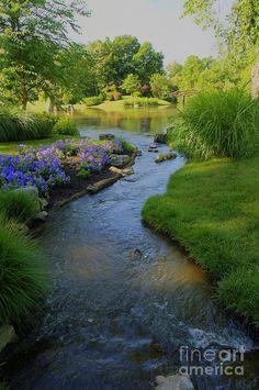 Landschaften/Häuser Garden Designs Ideas 2018 : Garden Stream Warming Up to the Idea of Solar Energy Garden Stream, Water Garden, Garden Pond, Contemporary Landscape, Landscape Design, Garden Design, Beautiful Landscapes, Beautiful Gardens, Nature Sauvage