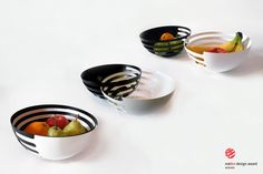 Eclipse Steel Fruit Bowls by More Than One by Sakura Adachi made in Italy on… Bowl Designs, More Than One, Multifunctional, Cool Gifts, Dog Bowls, Kitchen Dining, Kitchen Tools, Dining Room, Serving Bowls
