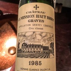 1985 Chateau La Mission Haut Brion Pessac-Léognan Bordeaux France Along with Haut-Brion La Mission is in a league of its own. Charming and round with lots of spice and earth covered in dark fruit flavours. The palate is soft presenting a round and fresh core. ______________________________________________________ #ChateauLaMissionHautBrion #LaMissionHautBrion #MissionHautBrion #PessacLeognan #Bordeaux #Wine # #FineWine #BordeauxWines #BordeauxWine #Sommelier #1985 #TastingNotes #WineTasting…