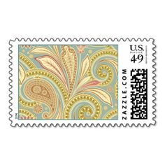 Hipster Girly Paisley Pink Green Floral Pattern Postage Stamp Yes I can say you are on right site we just collected best shopping store that haveShopping          	Hipster Girly Paisley Pink Green Floral Pattern Postage Stamp Here a great deal...