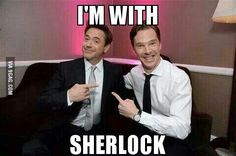 Sherlock Holmes meets Sherlock Holmes. This is honestly my favourite thing ever