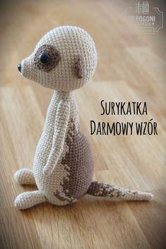 W pogoni za szyciem - inspired by Ania Knitting Patterns Boys, Crochet Amigurumi Free Patterns, Crochet Animal Patterns, Crochet Animals, Free Crochet, Free Knitting, Crochet Baby Toys, Crochet Dolls, Crochet Yarn