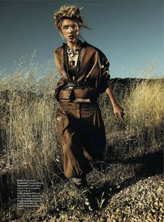 visual optimism; fashion editorials, shows, campaigns & more!: into the wild: emily senko by rennio maifredi for us marie claire august 2012