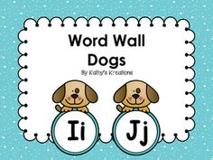 These adorable Dog word wall letters will look great in a dog theme classroom…