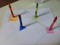 Easy art activity with your little ones, that can turn into a game or opportunity to learn colors, shapes, and more! Great idea to do at the restaurant while waiting for food! #toddlers #ece #earlylearning