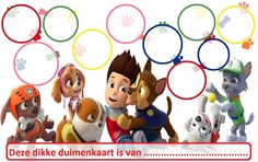 Paw Patrol - Website of dikkeduimenkaarten! Paw Patrol Party, Paw Patrol Birthday, Token Economy, Sticker Chart, Baby Stickers, Family Rules, Toddler Learning, Kids And Parenting, Teddy Bear