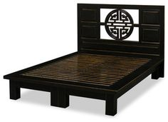 Elmwood Yuan-Yuan Queen Platform Bed - asian - Beds - China Furniture and Arts