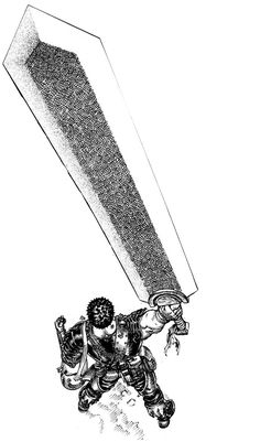 {Berserk - Guts with Dragonslayer} Samson uses a BIG sword. It honestly looks quite a bit like this.