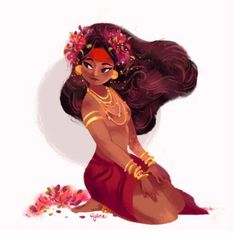 Dian Masalanta - Tagalog Goddess of Love - A gallery-quality illustration art print by Abigail Dela Cruz for sale. Female Character Design, Character Design References, Character Design Inspiration, Character Concept, Character Art, Concept Art, Sketch Inspiration, Character Illustration, Illustration Art