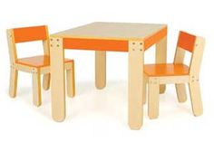 Kids chairs and table, $225