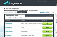 "Don't know your exact travel dates or even where you want to fly? That's not a problem at Skyscanner. This handy flight search engine lets you look at tickets from a specific airport or city to ""everywhere,"" and it will find the cheapest available flights to destinations all over the world. And if you know where you want to go but not when, Skyscanner also lets you search by exact date, month, or year. #iGottaTravel"