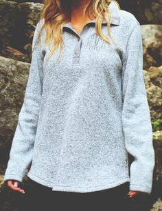 SWOON. This NEW Monogrammed Heathered Pullover Tunic is one of our favorite new fall products! It was crafted with a ladies' fit in mind, so it's super stylish and cozy! Get yours now at Marleylilly.com!