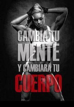 Cambia tu mente, cambia tu cuerpo Friday Motivation, Sport Motivation, Fitness Shirts, Workout Shirts, Motivation Inspiration, Fitness Inspiration, Running Workouts, Nike Running, Motivational Phrases