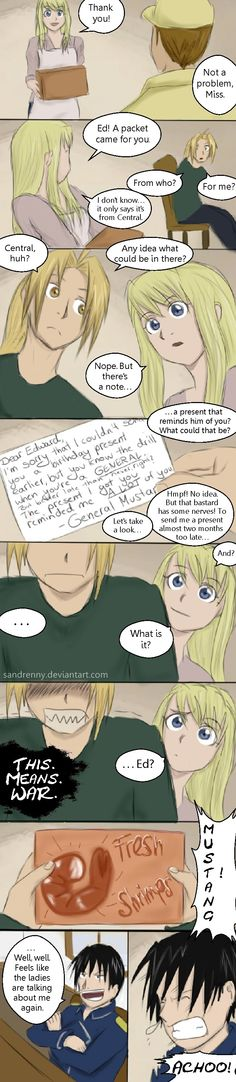 FMA: Mustangs Gift by Sandrenny.deviantart.com on @deviantART