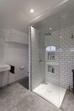 Concrete floor decorating ideas bathroom contemporary with poured concrete poured concrete painted bricl