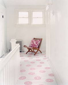 painted & stenciled floor