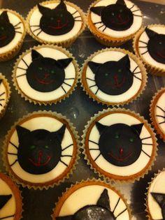Chocolate Orange Halloween Cat cupcakes
