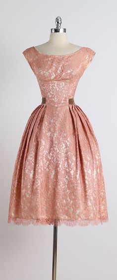 Vintage Fashion: Gilded Affair . vintage 1950s dress . vintage by millstreetvintage