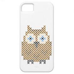 Owl Faux Cross Stitch iPhone 5 Case