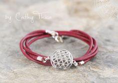 Wickelarmbänder - Wickelarmband mit Lebensblume / 21 Farben - ein Designerstück von Cathy-Thica-Namaste bei DaWanda